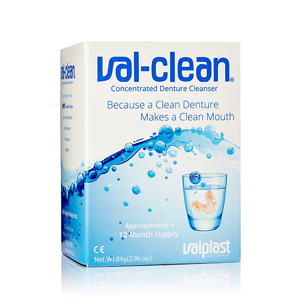 VAL-CLEAN – DENTURE CLEANER AND  APPLIANCES / BOX