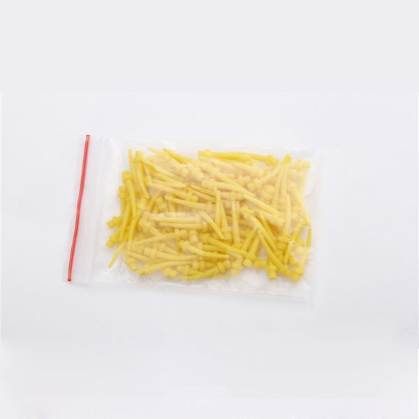 Yellow , Curved  Hp Intra-Oral Tips – 50PCS/BAG